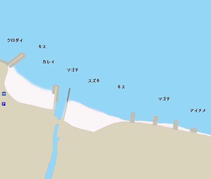 大野海岸・大草海岸ポイント図