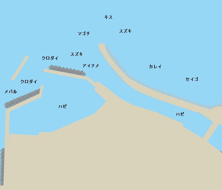 大野漁港ポイント図