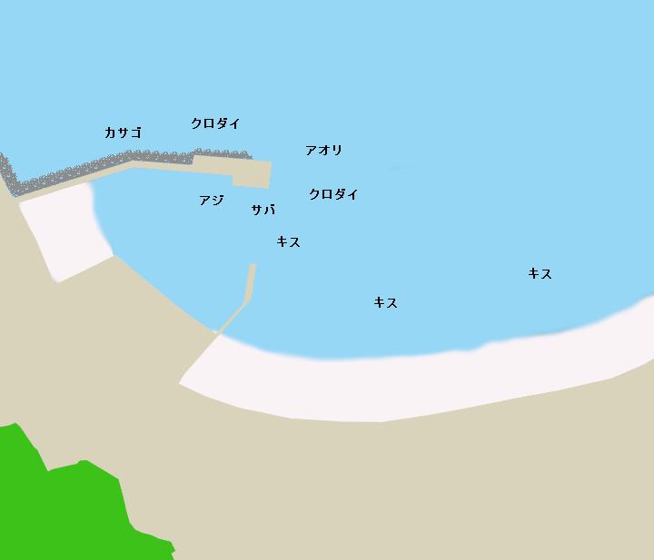 大田子海岸・大田子港ポイント図