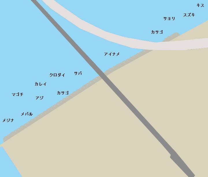 りんくう釣り護岸ポイント図