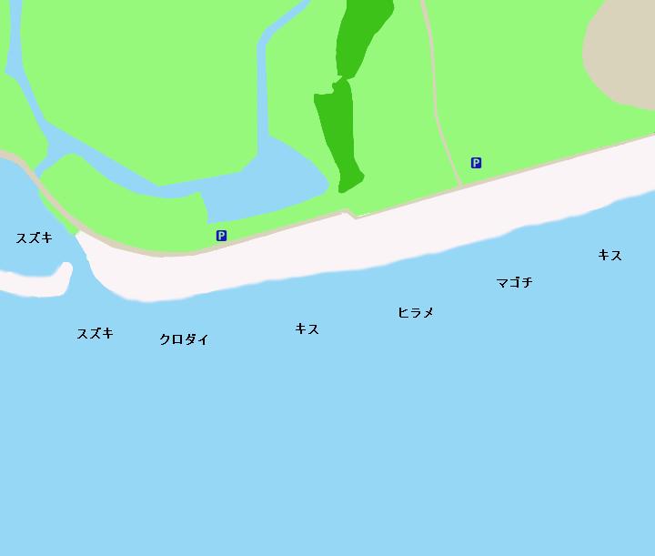 竜洋海岸ポイント図