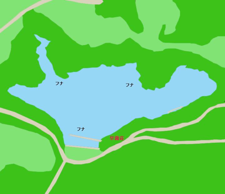 早霧湖ポイント図