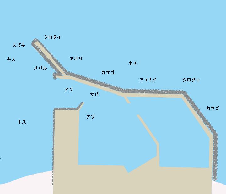 坂井港ポイント図