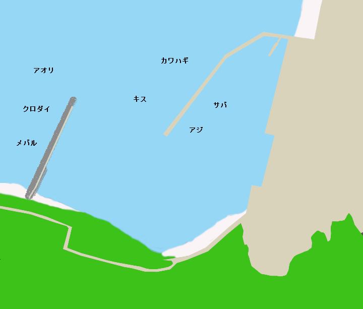 佐久島東港ポイント図