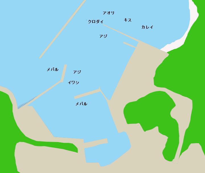佐久島西港ポイント図