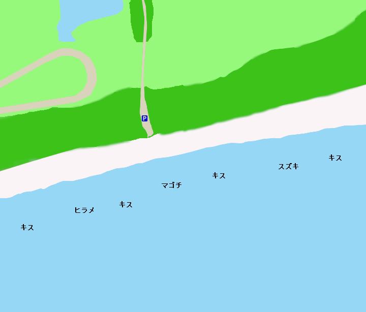 鮫島海岸ポイント図