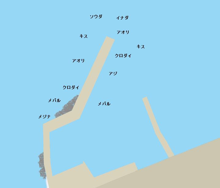 下多賀港ポイント図