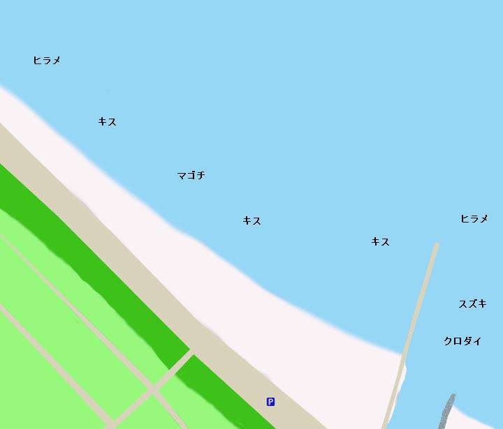 静波海岸ポイント図