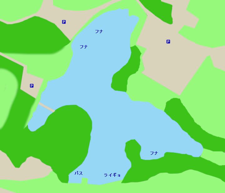 洲原池ポイント図