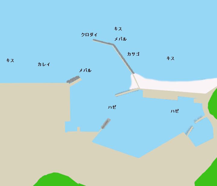 洲崎港ポイント図