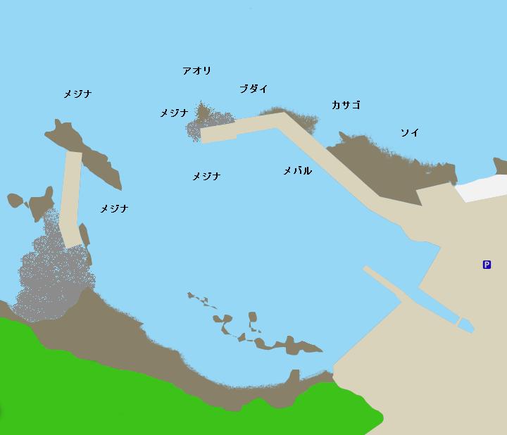 菖蒲沢港ポイント図