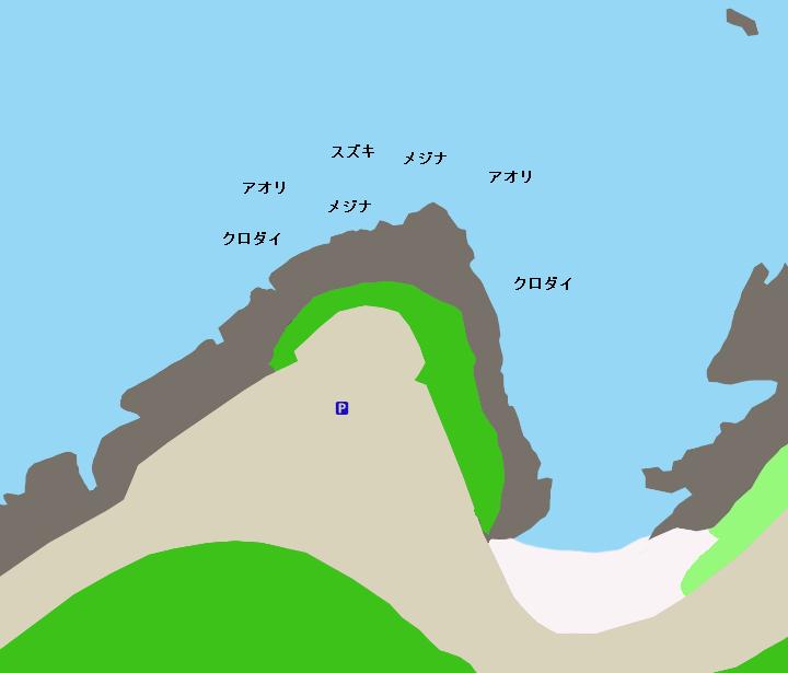 旅人岬ポイント図