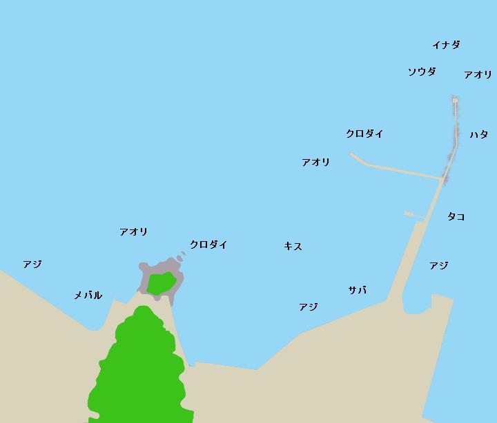多比港ポイント図