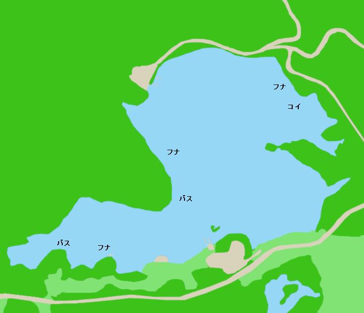 田貫湖ポイント図