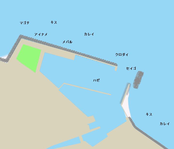 樽水漁港ポイント図