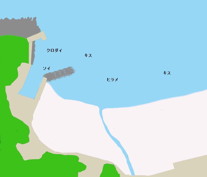 多々戸浜ポイント図