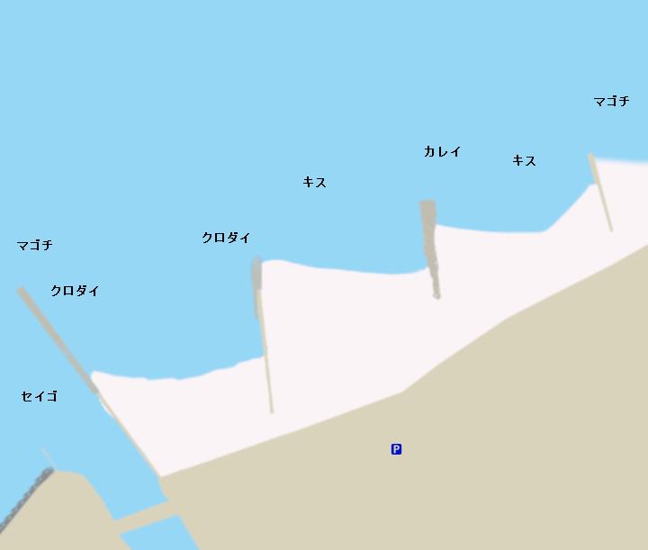 多屋海岸ポイント図