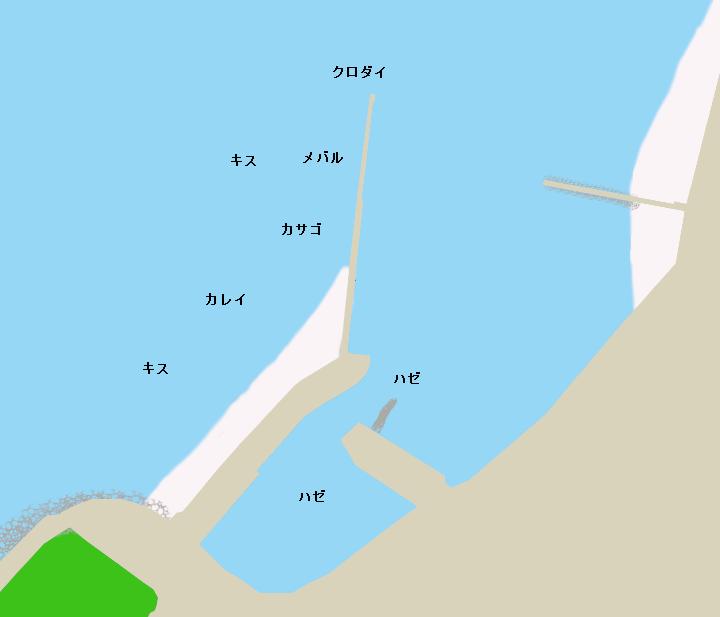 寺部港ポイント図