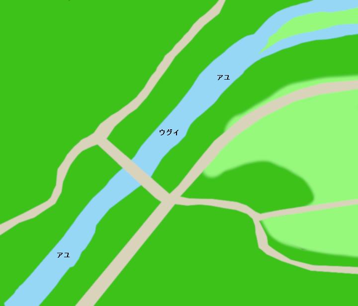 巴川滝穂橋周辺のポイント