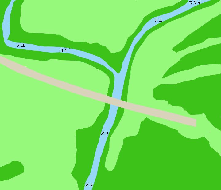 豊川宇連川合流地点付近のポイント