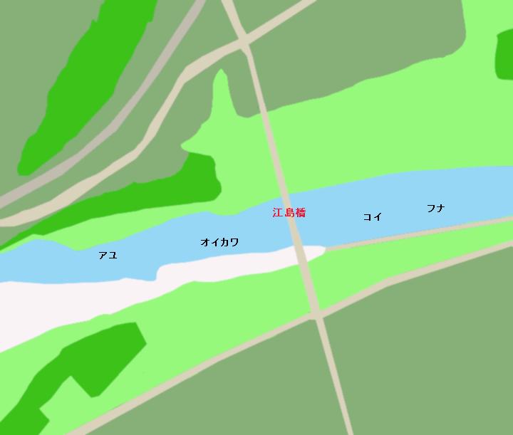 豊川江島橋周辺ポイント図
