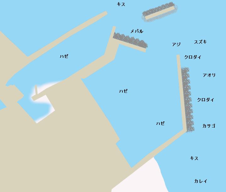 豊岡漁港ポイント図
