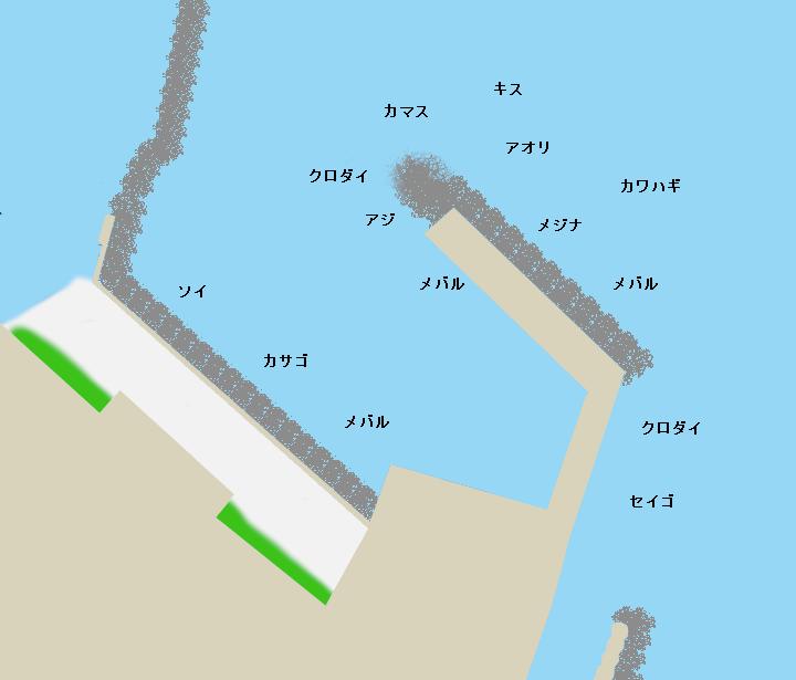 和田木堤防ポイント図