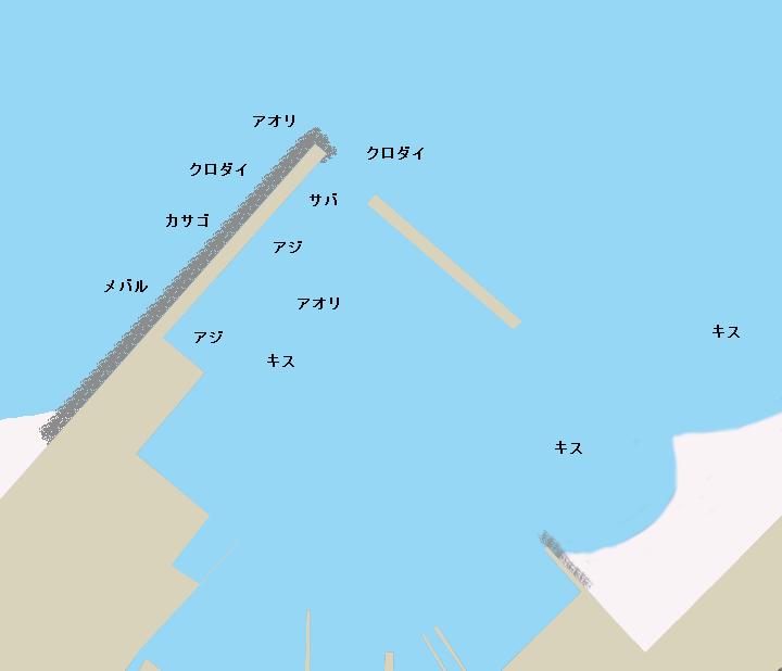 八木沢港ポイント図
