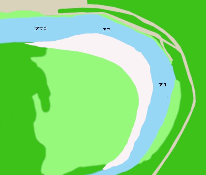 矢作川島崎公園周辺(愛知県豊田市)ポイント図