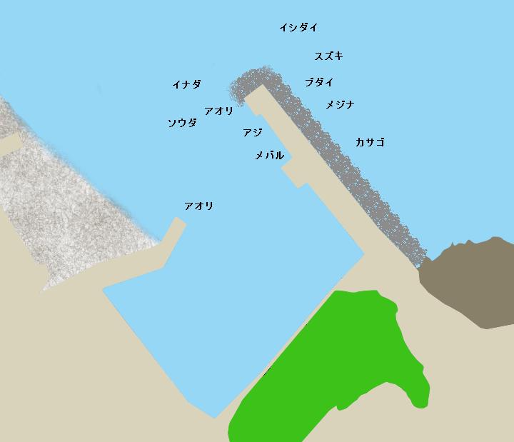 八幡野港ポイント図