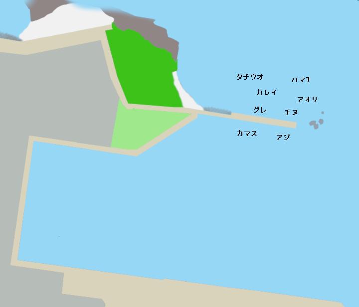 有田港(苅藻一文字)ポイント図