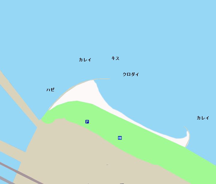 浜名湖弁天島周辺ポイント図