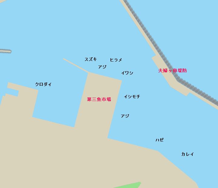銚子外港ポイント図