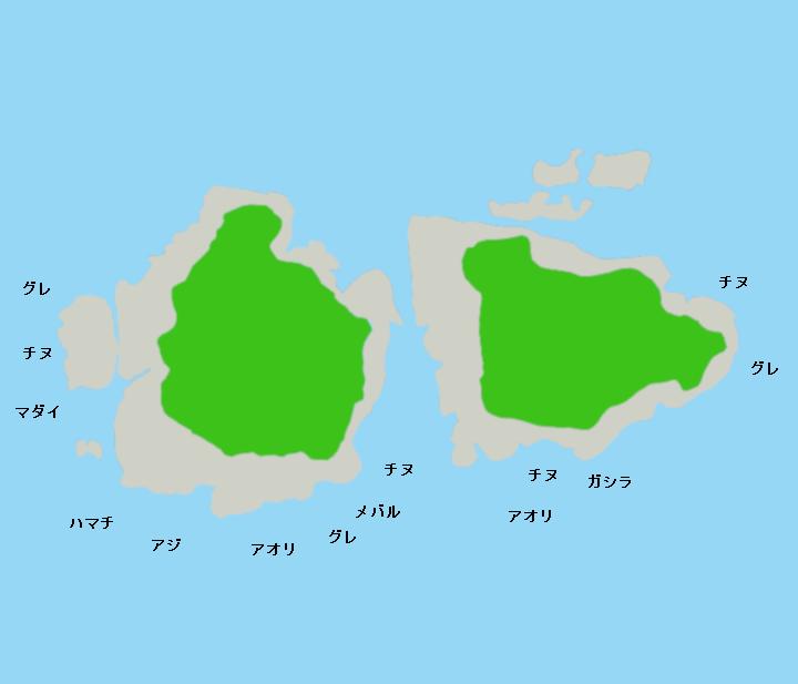 双子島ポイント図