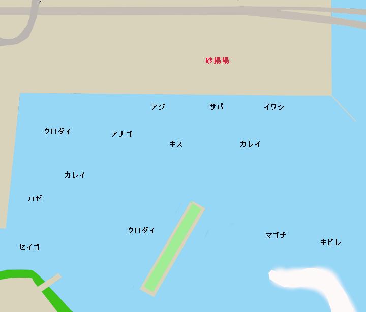 浜名湖浜名港ポイント図