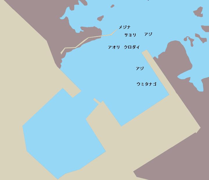 千倉平磯港ポイント図