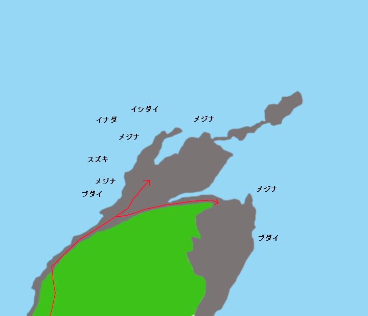 本根岬ポイント図