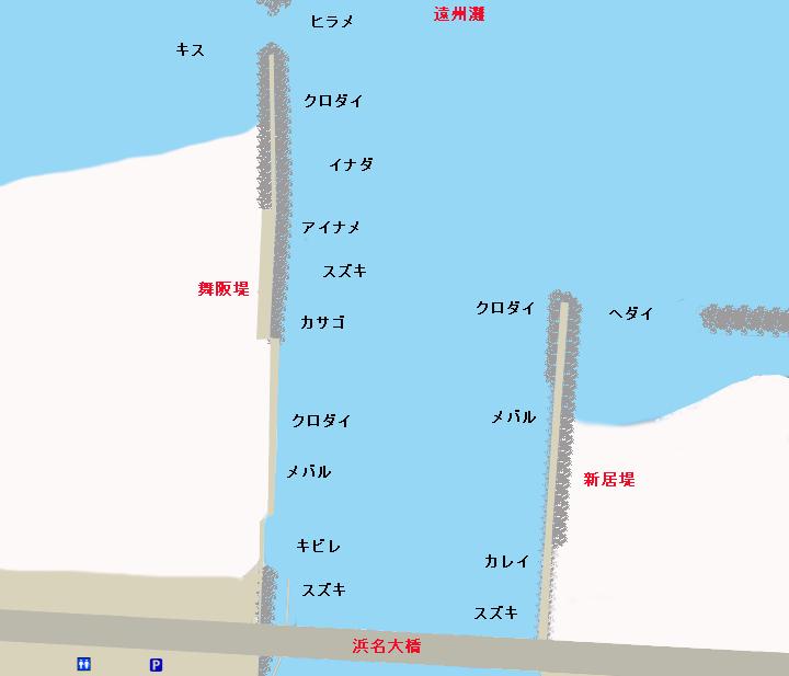 浜名湖今切口ポイント図