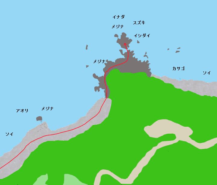 稲取岬ポイント図
