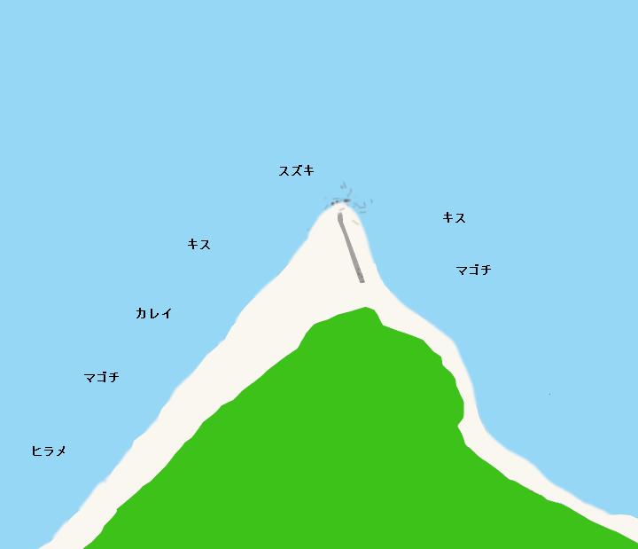 磯根崎ポイント図