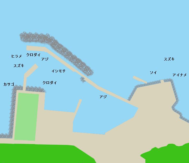 岩船港ポイント図