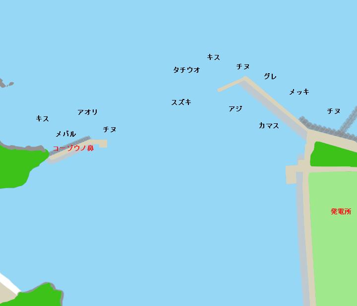 海南港ポイント図