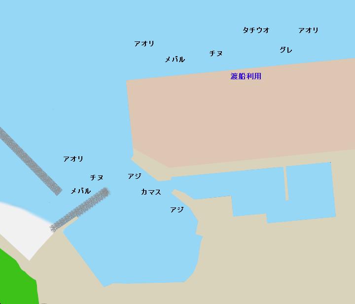 神谷漁港ポイント図