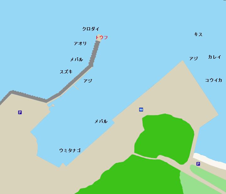 金谷フェリー港ポイント図