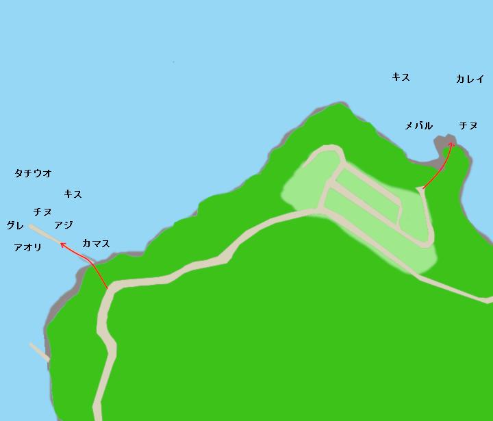 金山崎ポイント図