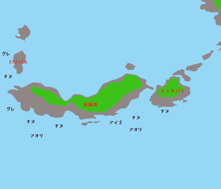 苅藻島ポイント図