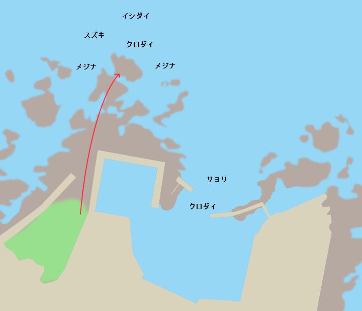 川下港ポイント図