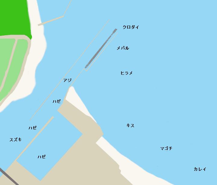 上総湊港ポイント図