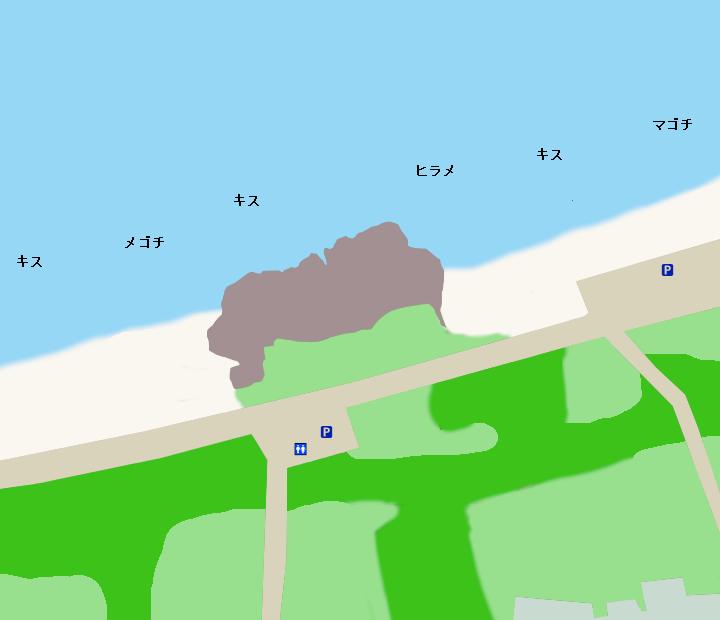 見物海岸ポイント図