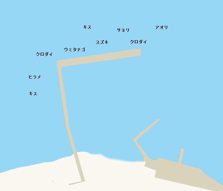 見物堤防ポイント図